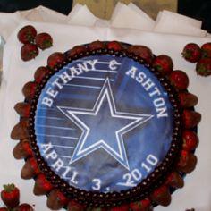Dallas Cowboy Grooms Cake, Wedding.
