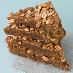 Peanut Butter Blondies by isachandra, via Flickr | a vegan recipe i will totally unveganize.