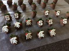 Michigan state strawberries for a grad party