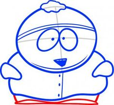 how to draw eric cartman from south park
