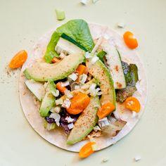 Vegan hummus and avocado taco recipe