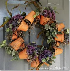 CONFESSIONS OF A PLATE ADDICT: Easy Flower Pot Wreath