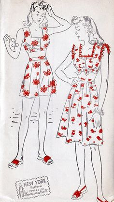 1940s 2-piece styled playsuit