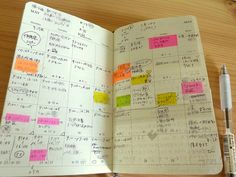 moleskine monthly planner layout