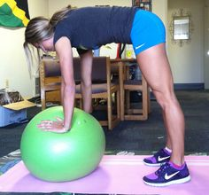 Make the Stability Ball Your Friend with this Killer Ab, Glute, & Inner Thigh Workout! exercise workouts, health care, health tips, stabil ball, thigh workouts, inner thigh, thigh exercises, workout exercises, killer abs