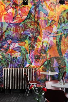 vibrantly colourful and innovative RGB Wallpaper by Milan studio Carnovsky.