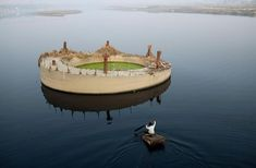 water, concret island, paddles, news, islands, india, island living, rivers, construction