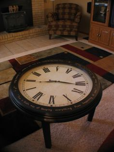 Coffee table clock on pinterest clock table clock and coffee tables Coffee table with clock