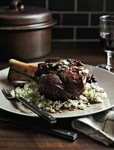 Braised Wild Boar Shanks with Sweet Soy and Star Anise (recipe from Food and Wine).