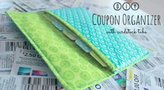 Easy Coupon Wallet Organizer – Free Sewing Tutorial by Spool and Spoon + Interfacing Tips!