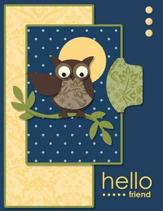 wall art, owl punch cards, color combos, colors, owl card, night owl, color combinations, friend, owls