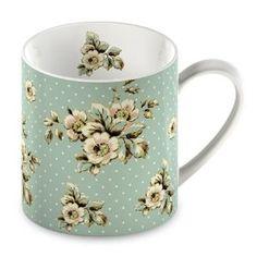 Katie Alice Cottage Flower Fine China Blue Flower Mug