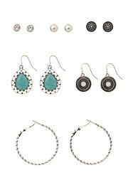 6 in 1 earring set -