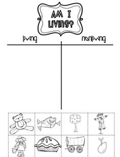 Science unit on Living and Non-Living Things for K-2  Freebie by Sarah Paul on TeachersPayTeachers