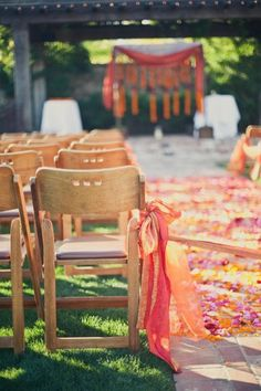 Indian & Jewish Ceremony Decor ~ Sumana and Adam's Colorful Multicultural Wedding on Style Me Pretty. Photo: http://onelove-photo.com