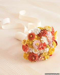 Ribbon and Fabric Bouquet