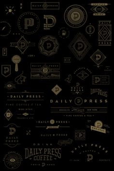 Daily Press Identity by Matt Delbridge, via Behance