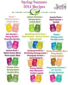 NEW!!  #Scentsy Recipes Spring/Summer 2014  I MUST. TRY. THEM. ALL!!!!  http://laurelcroft.scentsy.us