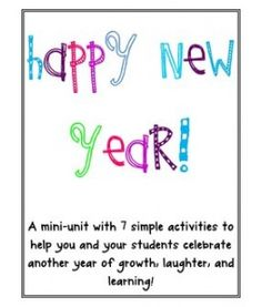 New Year Mini-unit for kindergarten
