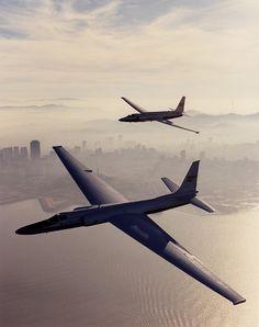 Two Lockheed U-2