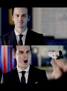 Moriarty's Surprised Face #BBC #Sherlock #Moriarty
