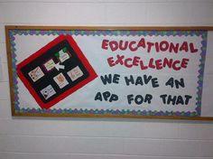 librari bulletin, school bulletin boards, school displays, educ, technology theme classroom, technology themed classroom, backtoschool, back to school, board idea