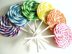 LARGE Big Carnival Candy Shoppe Clay Swirl Fake Lollipop Decoration Photo Prop on Etsy, $10.00
