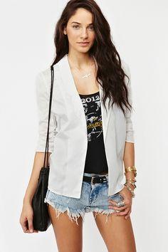 Outfit fun-Chiffon blazer