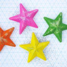 DIY Glitter Galaxy Crayons