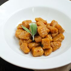 Pumpkin Gnocchi in Browned Butter Sage Sauce