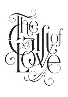 #typography #type #word_art #love