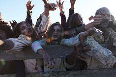 Zombie extra on a movie