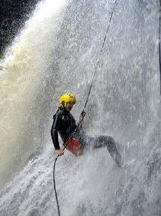 AWOL Canyoning Adventures: showering waterfalls
