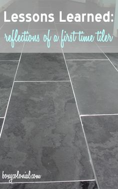 Lessons Learned from our First Time Tiling: Slate Tile in the Master Bath