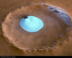 Ice on a crater - MARS Pics