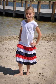 ruffl skirt, patriot ruffl