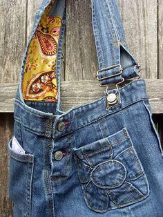 DIY jean skirt purse