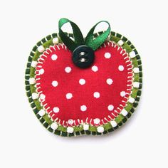 Apple Brooch for Teacher - Folksy | Craft Juice