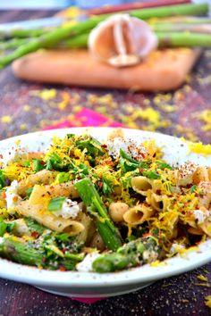 Asparagus Goat Cheese Pasta Salad #glutenfree