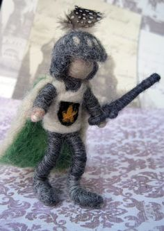 Needle Felted Posable Knight