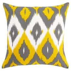 DwellStudio Home Diamond Ikat Citrine Pillow - Final Sale family room colors, living rooms, pattern, color combos, accent pillows, family rooms, future room, throw pillows, room color schemes