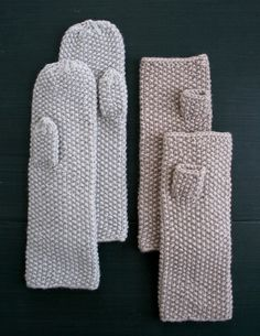 Whit's Knits: Seed Stitch Mittens and Hand Warmers - The Purl Bee