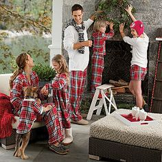 Dog Pajamas - Check out the dog in the bottom left of the photo.  That is seriously the cutest thing I've ever seen.  Even cuter since you could match your dog.  (XS thru L) for dogs $20 humans $42 and up.