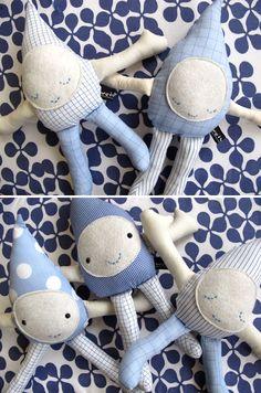 Raindrop softies new babies, diy softies, idea, sewing crafts, softies diy, raindrop doll, sew crafts, rain drops, paper crafts