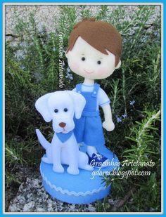 """Gracinhas Artesanato: Um menino e o seu cachorrinho- """"the best friends"""""""