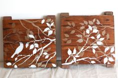 Salvaged wood turned into a beautiful wall decoration