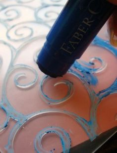 Color embossing with Gelatos by Jen Matott