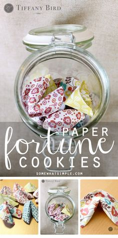 How to make DARLING paper fortune cookies!