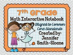 7th Grade Interactive Notebook Bundle- All Standards- Aligned to Common Core