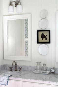 framed silhouette on linen